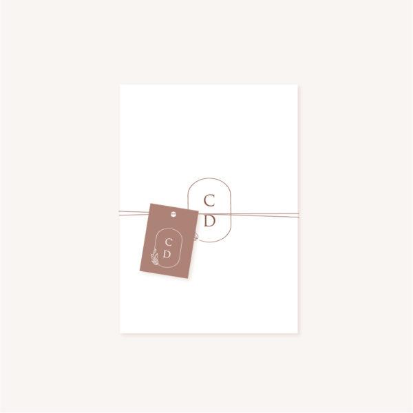 Étiquette papier pampa bohème boho boho chic Fleurs séchées floral mariage ocre terracotta