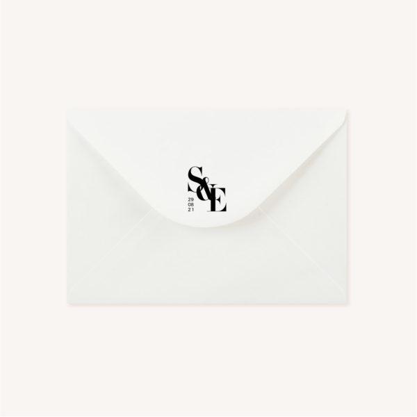 Tampon black and white noir et blanc moderne lettering innovant graphique