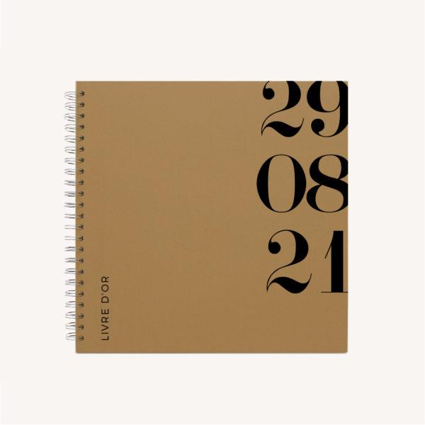 Livre d'or black and white noir et blanc moderne lettering innovant graphique