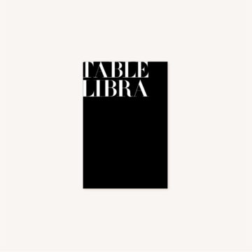 Nom de table black and white noir et blanc moderne lettering innovant graphique