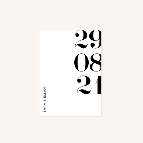 Menu black and white noir et blanc moderne lettering innovant graphique