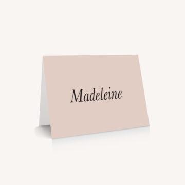 Marque-place mariage nude rose gris beige élégant sobre
