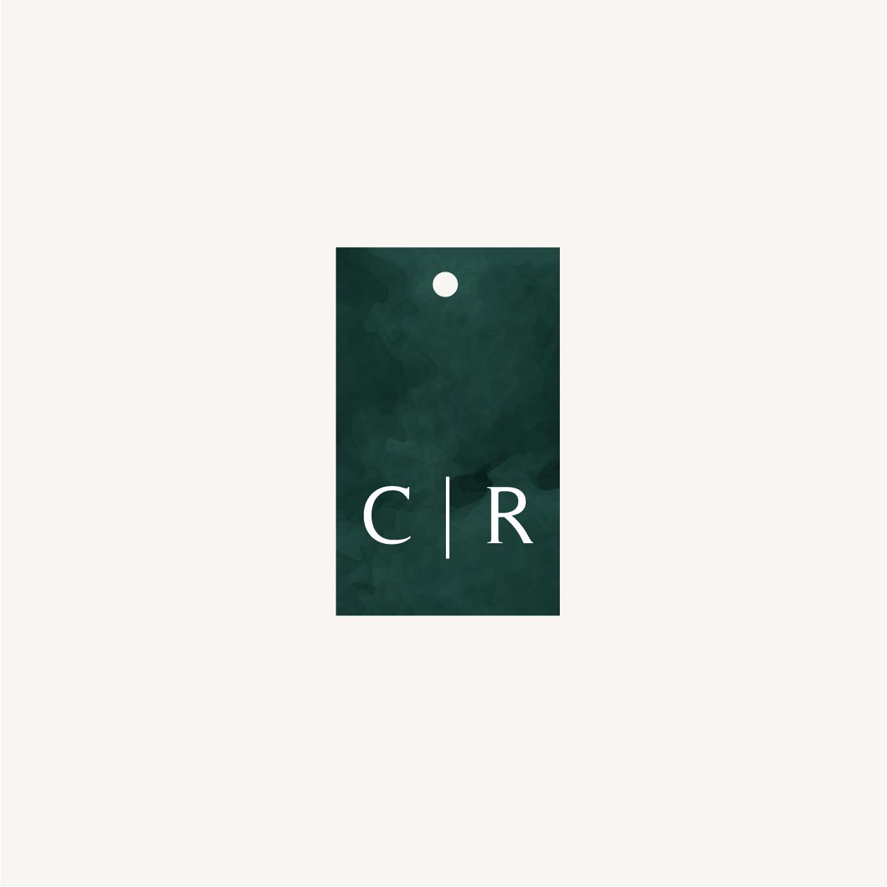 Étiquette papier mariage tropique feuillage vert et blanc à l'aquarelle