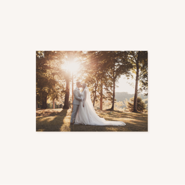 Carton remerciements mariage tropique feuillage vert et blanc