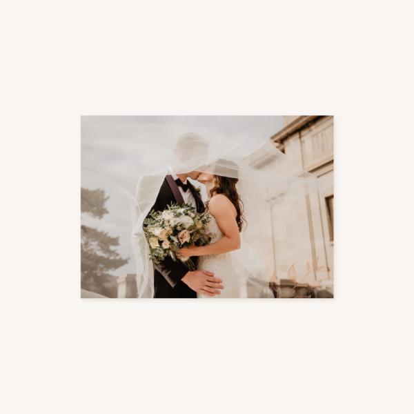 Remerciements mariage terre de sienne terracotta marron nature boheme beige or