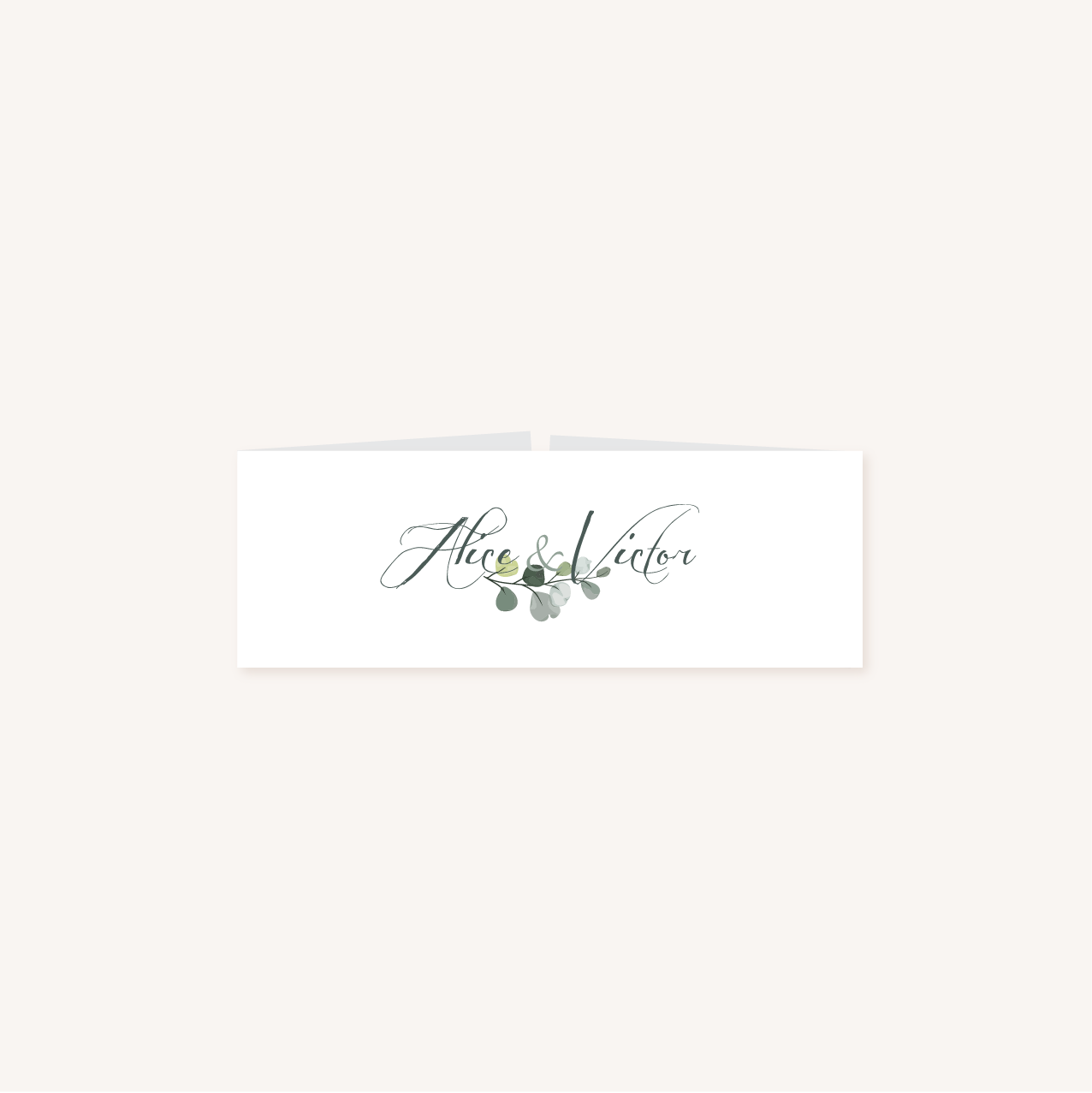 Bandeau faire-part mariage végétal feuille eucalyptus