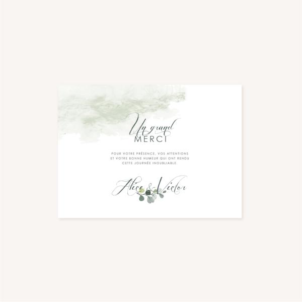 Remerciements mariage végétal feuille eucalyptus