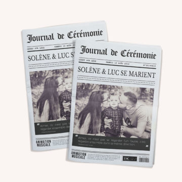 Journal personnalisable de 4, 8 et 12 pages