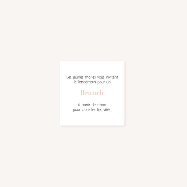 Carton brunch mariage verso, illustrations, portrait, toi et moi, Floral, nature, rose, nude, pêche, vert d'eau, vert menthe, eucalyptus, feuillage, végétal, aquarelle, dessin, couple, photo, romantique, végétal, nature, champêtre