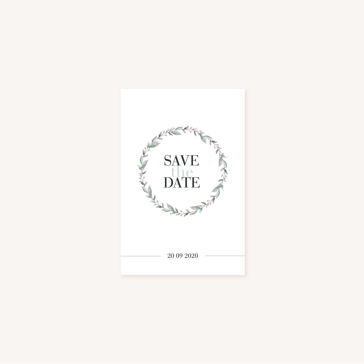 Save the date mariage recto, illustrations, portrait, toi et moi, Floral, nature, rose, nude, pêche, vert d'eau, vert menthe, eucalyptus, feuillage, végétal, aquarelle, dessin, couple, photo, romantique, végétal, nature, champêtre