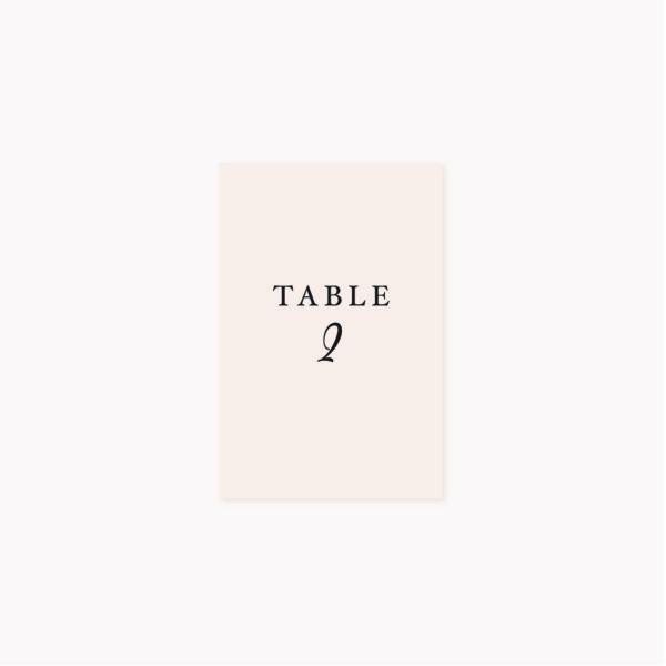 Nom de table mariage blush couleurs rose, rose poudré, rose clair, blanc, mariage thèmes doux, romantique
