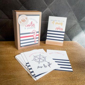 Cartes à grandir marin cartes anniversaire étapes bébé