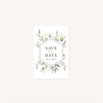 Save the date mariage eucalyptus vegetal nature mariage