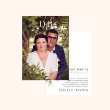 Remerciements mariage eucalyptus vegetal nature mariage
