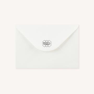 Enveloppe blanche tampon art déco