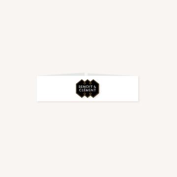 bandeau faire-part mariage art deco gatsby noir or dore