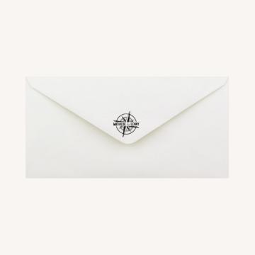 enveloppe blanche tampon mariage voyage vintage